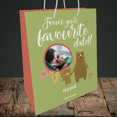 Picture of Favourite child, Mother's Day Design, Medium Portrait Gift Bag