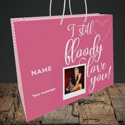 Picture of I Still Bloody Love You, Anniversary Design, Medium Landscape Gift Bag