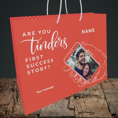 Picture of Tinder, Wedding Design, Medium Landscape Gift Bag