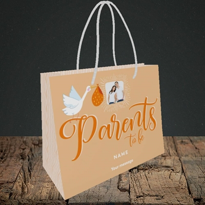 Picture of Parents To Be, Pregnancy Design, Small Landscape Gift Bag