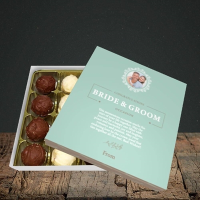 Picture of Traditional Foliage Teal B&G, Wedding Design, Choc 16
