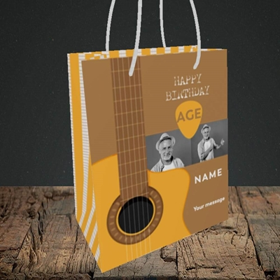 Picture of Acoustic Age, Birthday Design, Small portrait Gift Bag