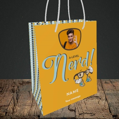 Picture of A-Level Nerd, Graduation Design, Small Portrait Gift Bag