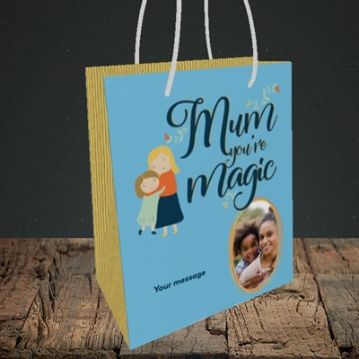 Picture of Mum You're Magic, Mother's Day Design, Small Portrait Gift Bag