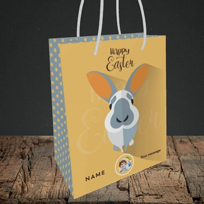 Picture of Pick Me Up Bunny, Easter Design, Small Portrait Gift Bag