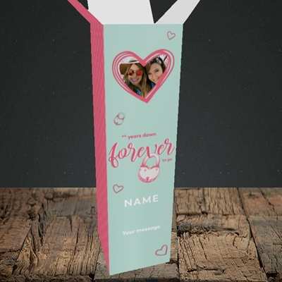 Picture of Forever To Go, Anniversary Design, Upright Bottle Box