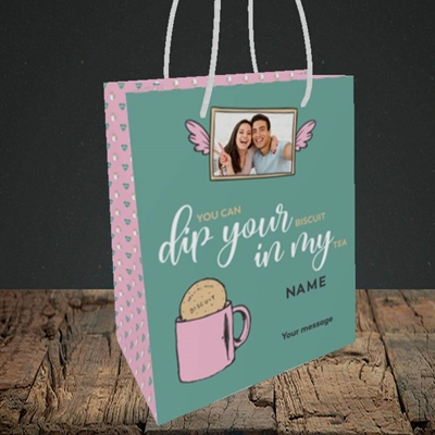 Picture of Dip Your... In My, Valentine's Design, Small Portrait Gift Bag