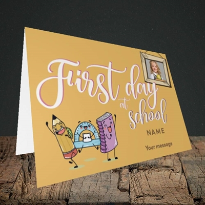 Picture of First Day At School, Good Luck Design, Landscape Greetings Card