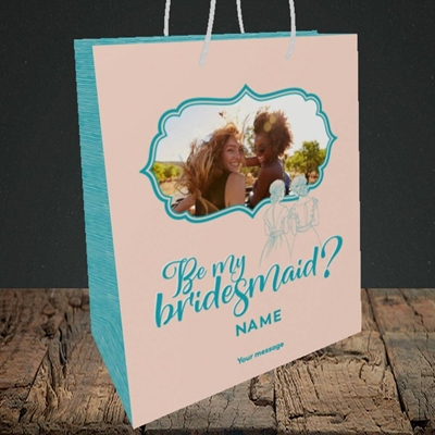 Picture of Be My Bridesmaid, Wedding Design, Medium Portrait Gift Bag