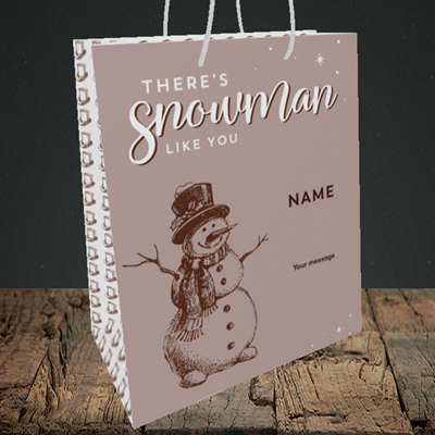 Picture of Snowman Like You(Without Photo), Christmas Design, Medium Portrait Gift Bag