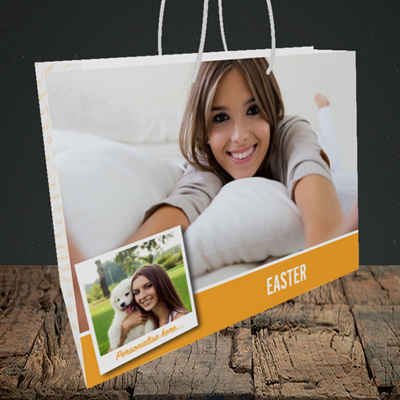 Picture of Photo, Easter Design, Medium Landscape Gift Bag
