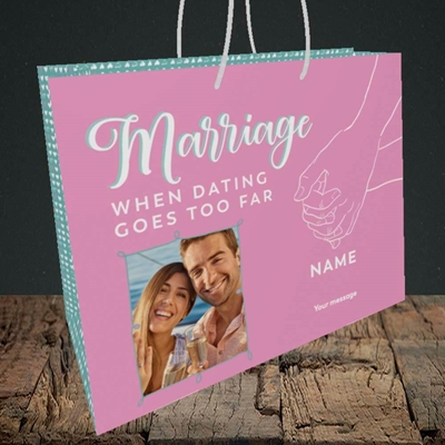 Picture of Dating Goes Too Far, Wedding Design, Medium Landscape Gift Bag