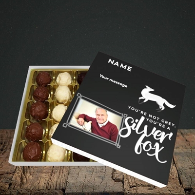 Picture of Silver Fox, Birthday Design, Choc 25
