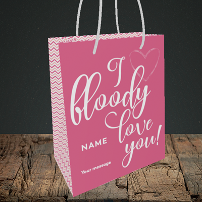 Picture of I Bloody Love You(Without Photo), Valentine's Design, Small Portrait Gift Bag