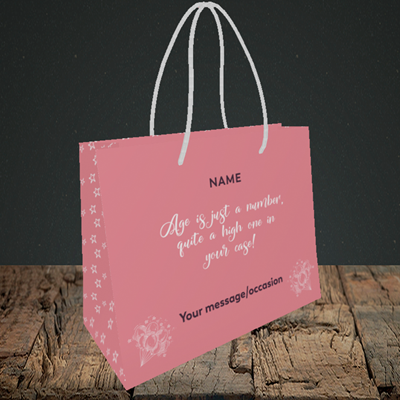 Picture of Age, (Without Photo) Birthday Design, Small Landscape Gift Bag