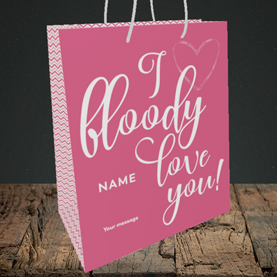 Picture of I Bloody Love You(Without Photo), Valentine's Design, Medium Portrait Gift Bag