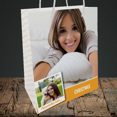 Picture of Photo, Christmas Design, Medium Portrait Gift Bag