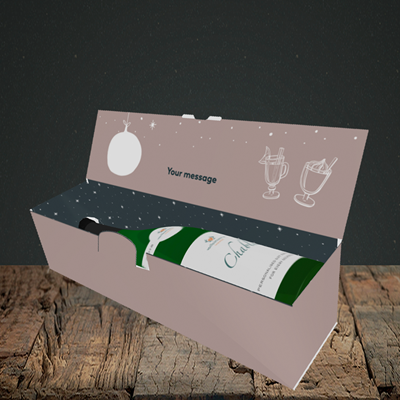 Picture of Tis The Season, Christmas Design, Lay-down Bottle Box