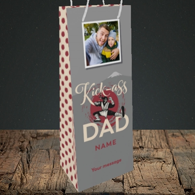 Picture of Kick-Ass Dad, Father's Day Design, Bottle Bag