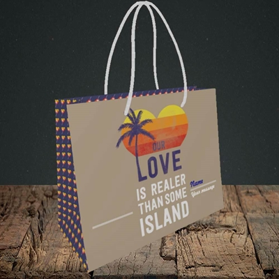 Picture of Our Love Is Realer(Without Photo), Valentine's Design, Small Landscape Gift Bag