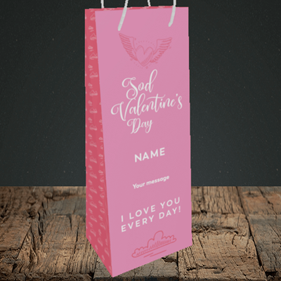 Picture of Sod Valentine's Day, (Without Photo) Valentine's Design, Bottle Bag
