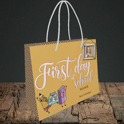 Picture of First Day At School, Good Luck Design, Small Landscape Gift Bag