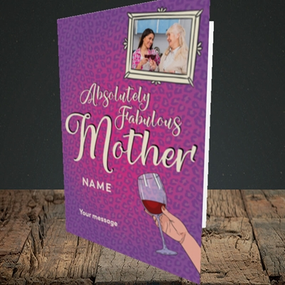 Picture of Absolutely Fabulous, Mother's Day Design, Portrait Greetings Card