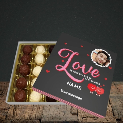 Picture of Love Bits, Valentine's Design, Choc 25