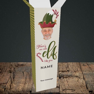 Picture of No One Elf, Christmas Design, Upright Bottle Box