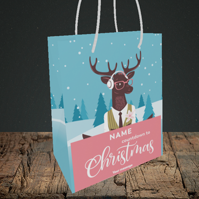 Picture of Countdown(Without Photo), Christmas Design, Small Portrait Gift Bag