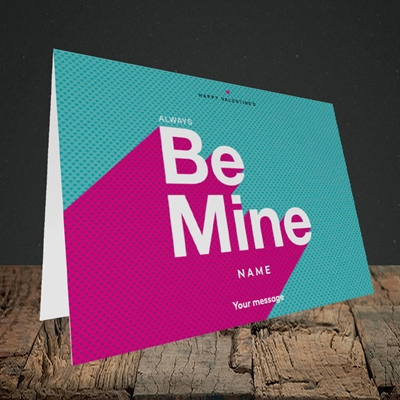 Picture of Always be Mine (type) (Without Photo) Valentine's Design, Landscape Greetings Card
