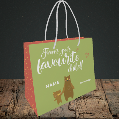 Picture of Favourite Child, (Without Photo) Mother's Day Design, Small Landscape Gift Bag