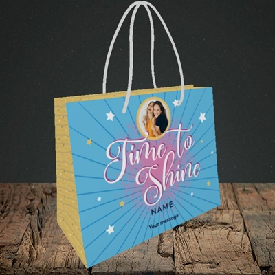 Picture of Time To Shine, Good Luck Design, Small Landscape Gift Bag