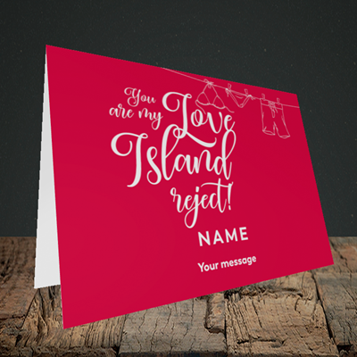 Picture of Love Island Reject, (Without Photo) Valentine's Design, Landscape Greetings Card