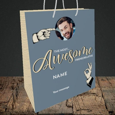 Picture of Awesome Person, Thank You Design, Medium Portrait Gift Bag