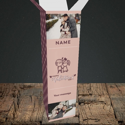 Picture of Holding Hands, Valentine's Design, Upright Bottle Box