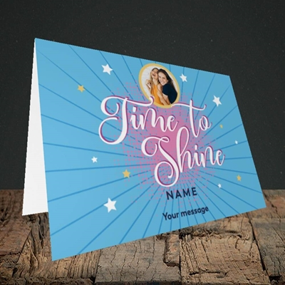 Picture of Time To Shine, Good Luck Design, Landscape Greetings Card
