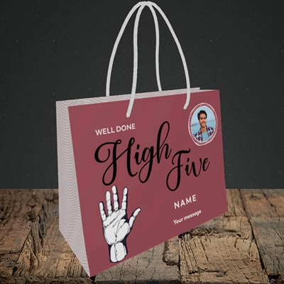Picture of Well Done High Five, Celebration Design, Small Landscape Gift Bag