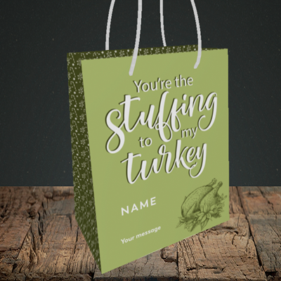 Picture of Stuffing To My Turkey(Without Photo), Christmas Design, Small Portrait Gift Bag