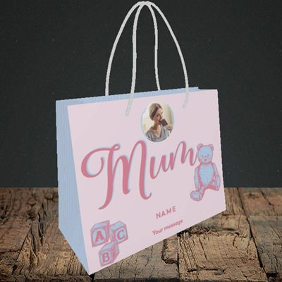 Picture of Mum To Be, Pregnancy Design, Small Landscape Gift Bag