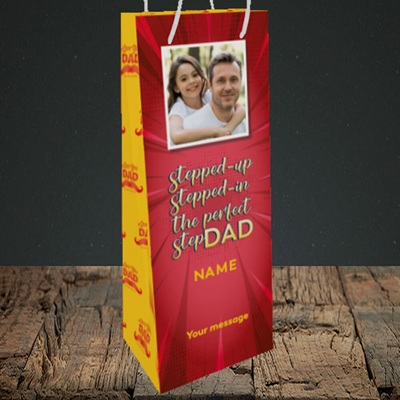 Picture of Stepped Up, Father's Day Design, Bottle Bag