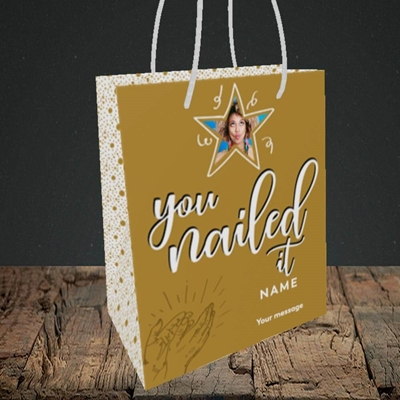 Picture of Nailed It, Graduation Design, Small Portrait Gift Bag