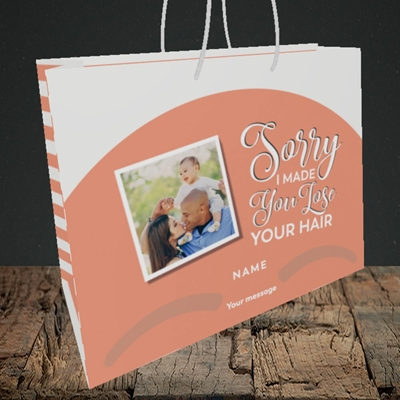 Picture of Made You Lose Hair, Father's Day Design, Medium Landscape Gift Bag