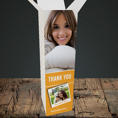 Picture of Photo, Thank You Design, Upright Bottle Box