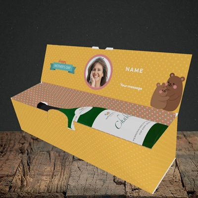 Picture of Mummy You Are The Best Bear, Mother's Day Design, Lay-down Bottle Box