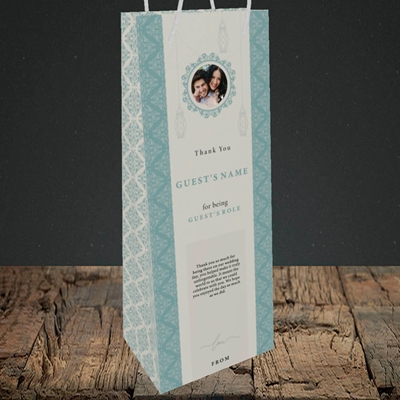 Picture of Moroccan Influences Teal SG, Wedding Design, Bottle Bag