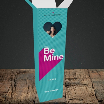 Picture of Always be Mine (type), Valentine's Design, Upright Bottle Box