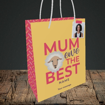 Picture of Ewe The Best, Mother's Day Design, Small Portrait Gift Bag