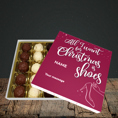 Picture of Christmas Shoes(Without Photo), Christmas Design, Choc 25