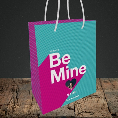 Picture of Always be Mine (type), Valentine's Design, Small Portrait Gift Bag